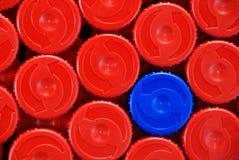 Tampões de frasco plásticos Imagens de Stock