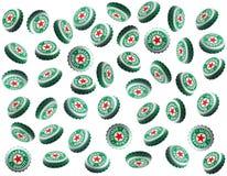 Tampões de Heineken Fotos de Stock