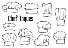 Tampões e chapéus do cozinheiro chefe ajustados ilustração stock