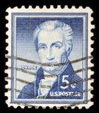 Tamp напечатало в портрете выставок Соединенных Штатов пятого президента Соединенных Штатовов Жамес Монрое Стоковые Изображения RF
