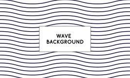 Tampa abstrata do vetor com formas de onda mínimas do projeto e do simlpe Fundo abstrato para a Web, papel de parede do vetor, ta ilustração royalty free