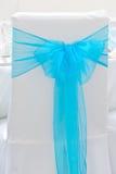 Tampa azul da cadeira Fotografia de Stock Royalty Free