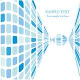 Tampa azul do vetor do mosaico Imagem de Stock Royalty Free
