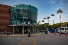 Cruise Terminal 3 at Port Tampa Bay 1 stock photo