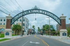 Ybor City arch on 7th Aveneu in historic district 1.