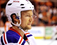 Tampa Bay Lighting and Former New York Rangers Defenseman Anton Stralman Royalty Free Stock Images