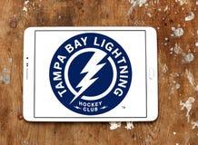 Tampa Bay Lightning-Eis-Hockey-Team-Logo Lizenzfreie Stockbilder