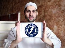 Tampa Bay Lightning-Eis-Hockey-Team-Logo Stockfoto
