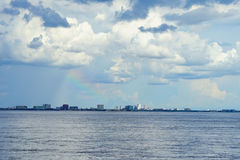 Tampa bay. Rainbow, cloud and tampa bay, taken in Florida Royalty Free Stock Images