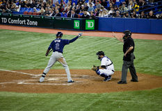 Tampa Bay Rays at Toronto Blue Jays Royalty Free Stock Photos