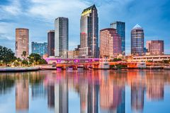Tampa Bay Skyline Stockfotografie