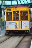 Tampa Bay Straßenbahn in YBOR-Stadt Stockfotografie
