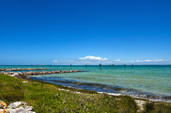 Tampa Bay. View across Tampa Bay from Anna Maria Island, Florida Royalty Free Stock Photography