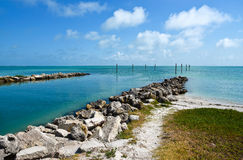 Tampa Bay. View across Tampa Bay from Anna Maria Island, Florida Royalty Free Stock Images