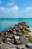 Tampa Bay. View across Tampa Bay from Anna Maria Island, Florida Royalty Free Stock Image