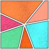 Tampa brilhante colorida da página da banda desenhada do estilo antigo G pontilhado retro ilustração do vetor