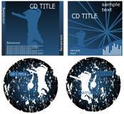 Tampa CD Imagens de Stock