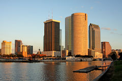 Tampa City Skyline with River Royalty Free Stock Images