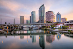 Tampa Cityscape Sunrise Royalty Free Stock Images