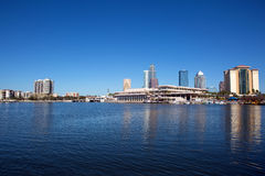 Tampa Convention Center And City Skyline Stock Photography