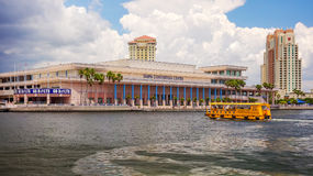 Tampa Convention Center and Water Taxi in Downtown Tampa, Florid Stock Images