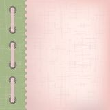 Tampa cor-de-rosa para um álbum com fotos Imagens de Stock