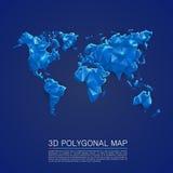 Tampa da arte do polígono do mapa 3d Fotografia de Stock Royalty Free