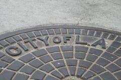 Tampa da cidade de Los Angeles Fotografia de Stock Royalty Free