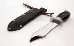 Tampa da faca e do couro Fotografia de Stock