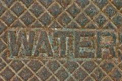 Tampa da fonte de água do ferro foto de stock royalty free