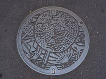 Tampa de câmara de visita em Marugame, Kagawa, Japão Fotografia de Stock Royalty Free