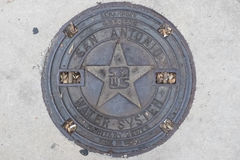 Tampa de câmara de visita em San Antonio Foto de Stock
