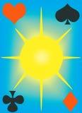 Tampa de cartões de jogo. Imagens de Stock Royalty Free