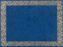 Tampa de couro azul Fotos de Stock Royalty Free