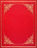 Tampa de couro vermelha Fotografia de Stock Royalty Free