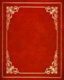 Tampa de couro vermelha Fotografia de Stock