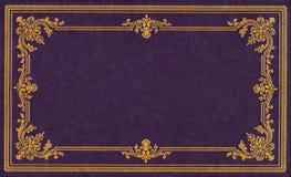 Tampa de couro violeta Foto de Stock Royalty Free