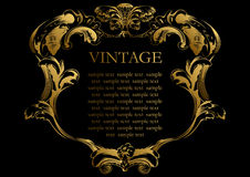 Tampa de frame do vintage do vetor Fotografia de Stock