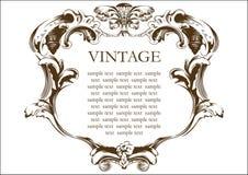 Tampa de frame do vintage do vetor Imagens de Stock Royalty Free
