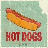 Tampa de Grunge para o menu do fast food Imagem de Stock