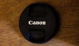 Tampa de lente de Canon imagens de stock royalty free