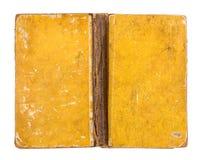Tampa de livro amarelo suja do vintage foto de stock royalty free