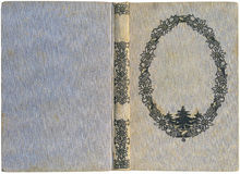 Tampa de livro antiga Fotografia de Stock