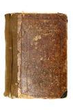 Tampa de livro marrom velha Fotos de Stock