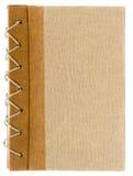 Tampa de livro rústica isolada Fotografia de Stock