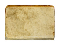 Tampa de livro velho isolada no branco Fotografia de Stock Royalty Free