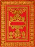 Tampa de livro vermelha antiga velha Ilustração Stock
