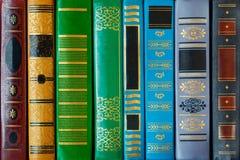 Tampa de livros colorida com testes padrões close up, textura, fundo foto de stock royalty free