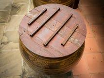 Tampa de madeira Imagem de Stock