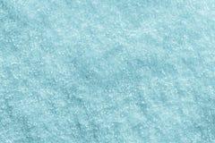 Tampa de neve de cristal do inverno da textura da cor de turquesa imagem de stock royalty free